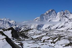onderste deel van de ngozumba-gletsjer