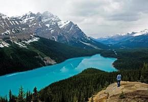 Peyto Lake in de lente foto