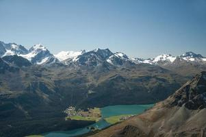 bergpanorama der schweizer alpen