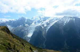 mont blanc uitzicht foto