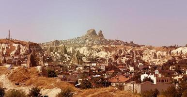 bergen in cappadocia turkije foto