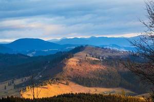 zonsondergang in de Karpaten