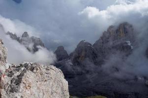 gek weer in de bergen foto