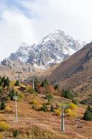 kabelbaan in de bergen foto