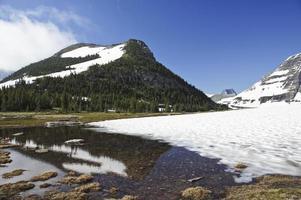 gletsjer nationaal park in het noorden van montana foto