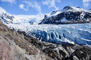 gletsjer en berg foto