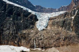 engel gletsjer in jasper nationaal park foto