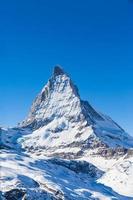 uitzicht op Matterhorn op een heldere zonnige dag