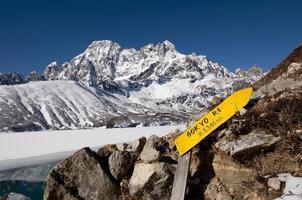 gokyo ri beklimming - nepal foto