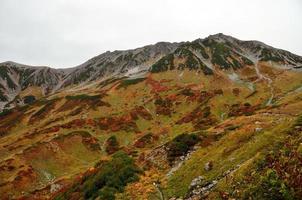 herfstkleuren, tateyama-gebergte, japan