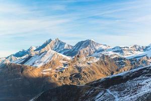 alpiene berg van zermatt, zwitserland foto