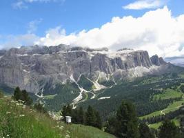 panoramisch uitzicht op de bergen foto