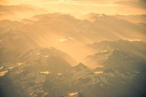 himalaya bergen everest bereik panorama luchtfoto