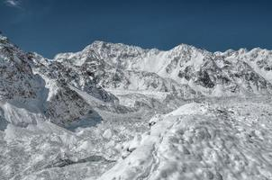 himalaya's in de buurt van kanchenjunga foto