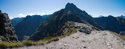 Pools hoge Tatra-gebergte. foto