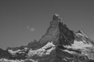 Matterhorn uit het Rothorn Paradise, kanton Wallis, Zwitserland