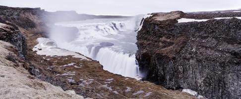 gullfoss waterval - ijsland foto