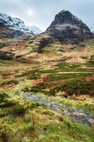 bergpad in Glencoe, Schotland