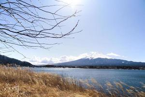 fuji-berg, kawaguchiko-meer, japan foto