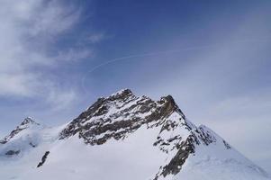sneeuwberg in jungfraujoch, zwitserland