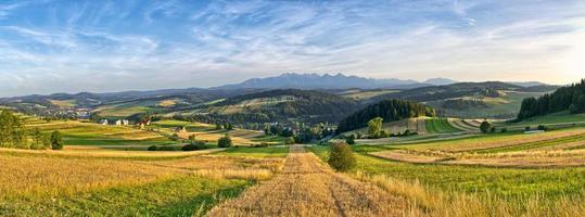 panorama van tatra-gebergte, polen