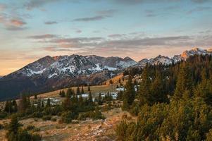 bergen in het nationale park