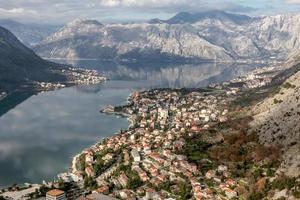 baai van kotor, montenegro. boka kotorska.
