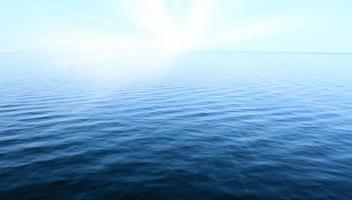 blauwe lucht en oceaan