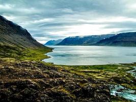 uitzicht over de fjord foto