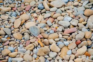 kiezelstenen op het strand foto