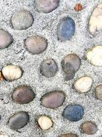 kleine stenen betonnen straat textuur foto
