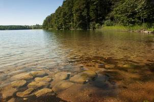 hancza. het diepste meer in Midden- en Oost-Europa foto