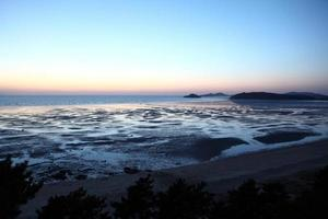 zonsondergang in zuid-korea foto