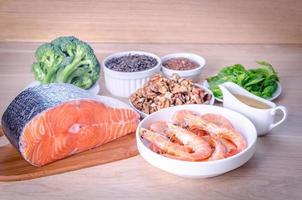 plantaardige en dierlijke bronnen van omega-3-zuren foto