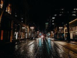 weg tijdens de nacht