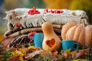 herfst thanksgiving stilleven foto