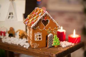 peperkoek huis kerst interieur foto