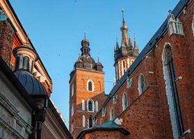 historische huizen in Krakau