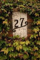huisnummer 27 foto