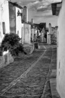 typische straat, witte huizen van monsaraz foto