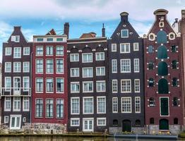 Nederlandse grachtenpanden foto
