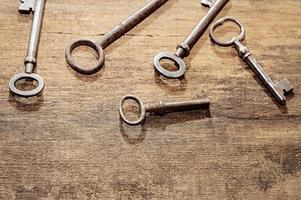 antieke sleutels foto