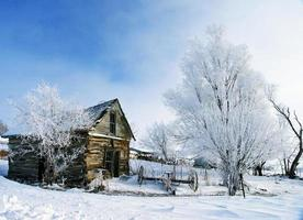 hut in ijs foto