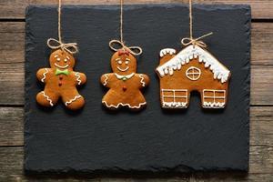 kerst zelfgemaakte ontbijtkoek paar cookies