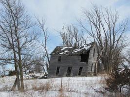 verlaten boerderij in Iowa