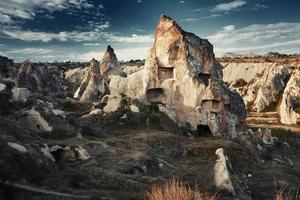 oude stenen huizen van Cappadocië foto