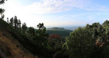 panoramisch uitzicht op munnar foto