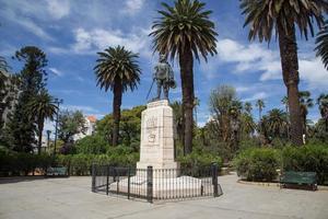 stichter monument in salta, argentinië foto