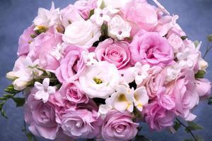 bruiloft bloemboeket vignet foto