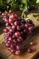 biologische rauwe rode druiven foto